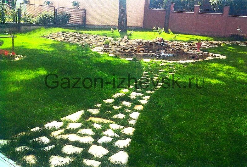 ландшафтный дизайн газон рулонный